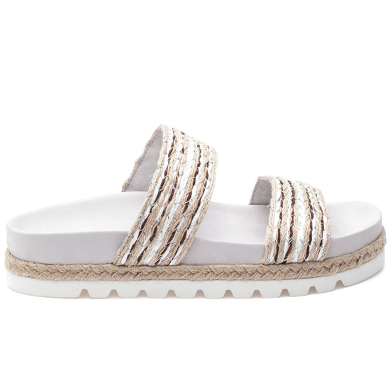 JSlides LOGAN White Natural Raffia