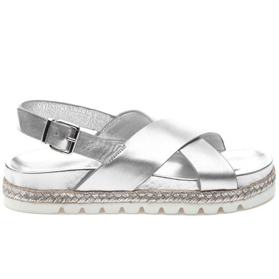 JSlides LEE Silver Leather