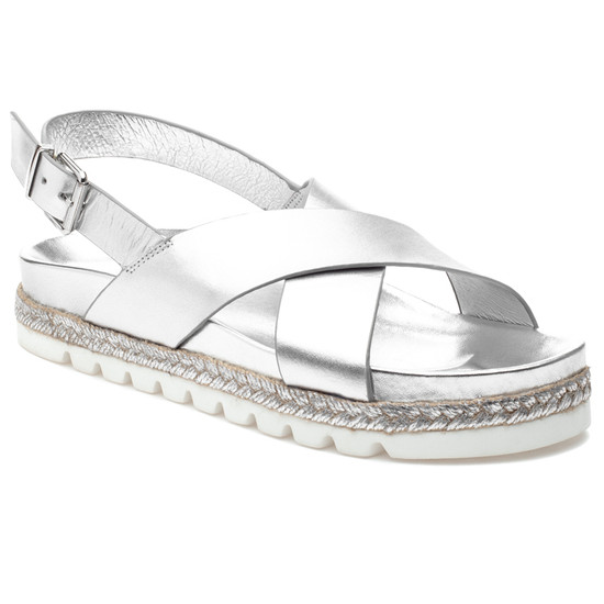 JSlides LEE Silver Leather
