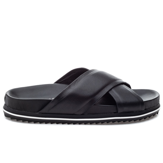 JSlides OLIVIA Black Leather
