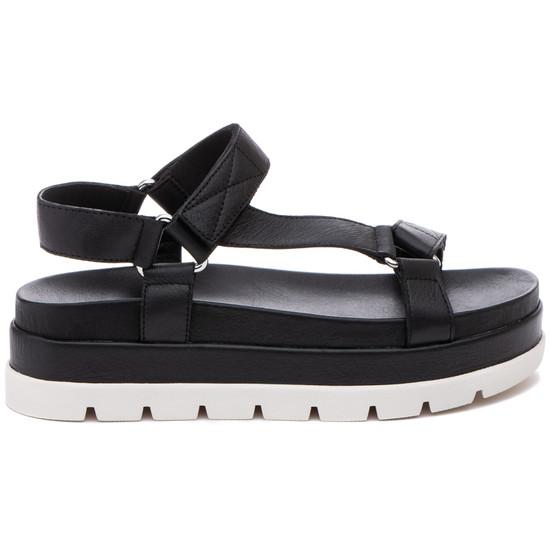 JSlides BLAKELY Black Leather