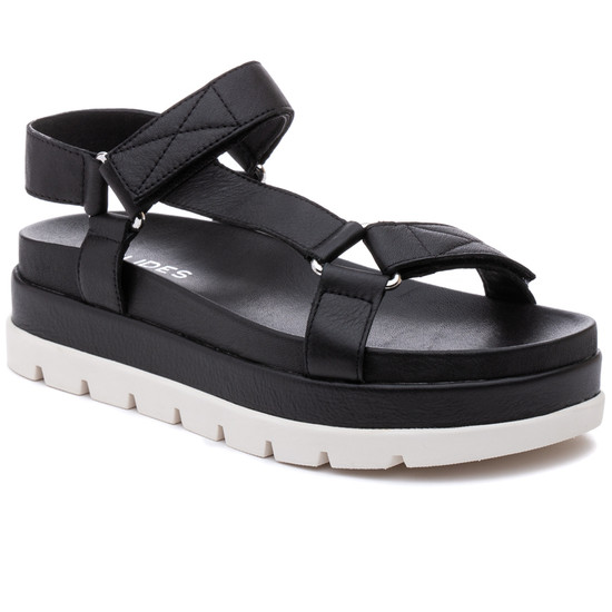 JSlides BLAKELY Black Leather