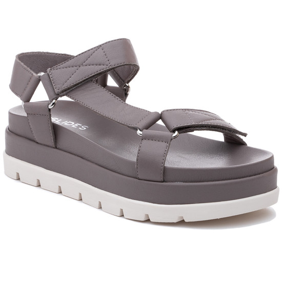 JSlides BLAKELY Grey Leather