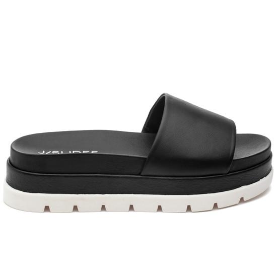JSlides BIBI Black Leather