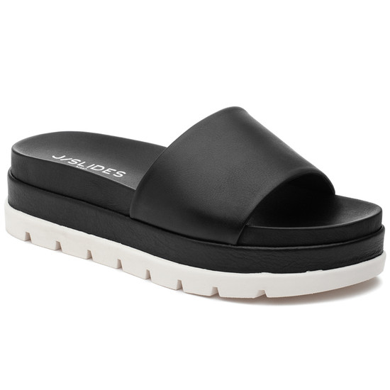 JSlides BIBI Black Leather