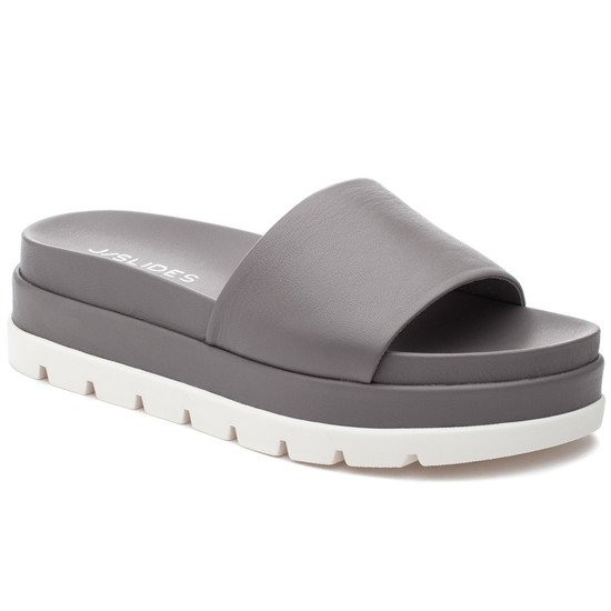 JSlides BIBI Grey Leather