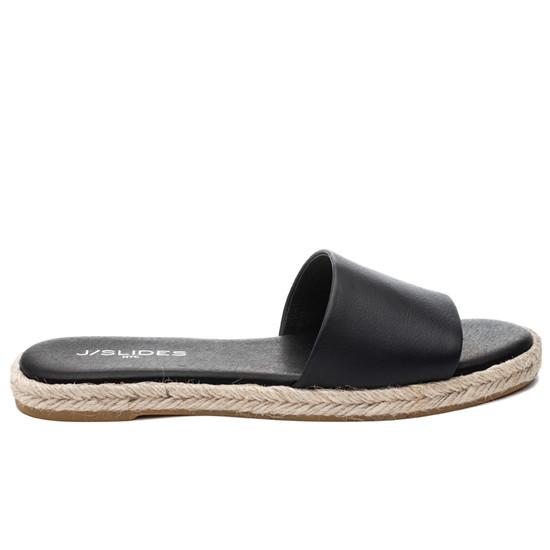 JSlides RONNIE Black Leather