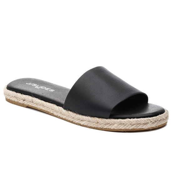 JSlides RONNIE Black Leather