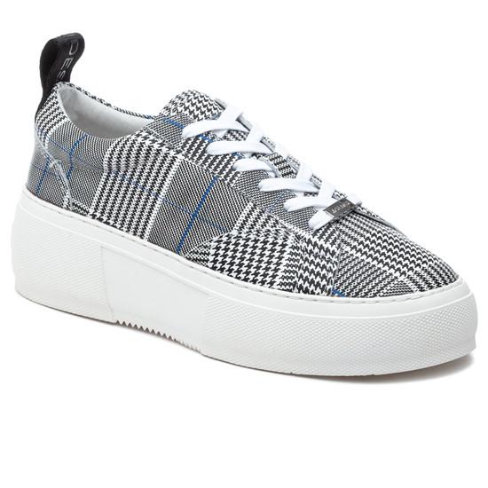 JSlides COURTO Black/White Leather