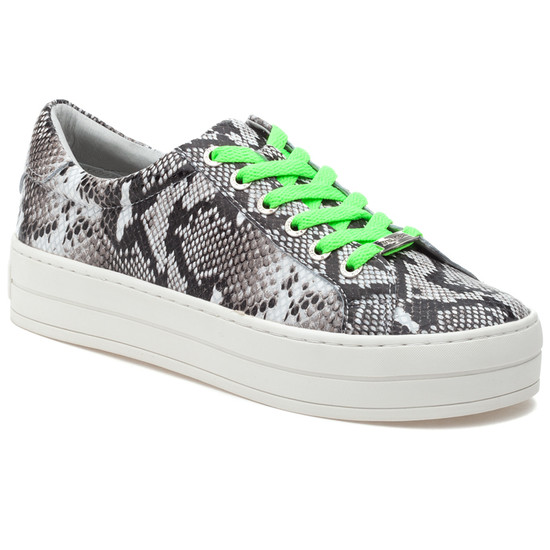 HIPPIE NEON Black White Embossed/Green