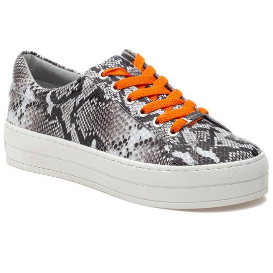 HIPPIE NEON Black White Embossed/Orange
