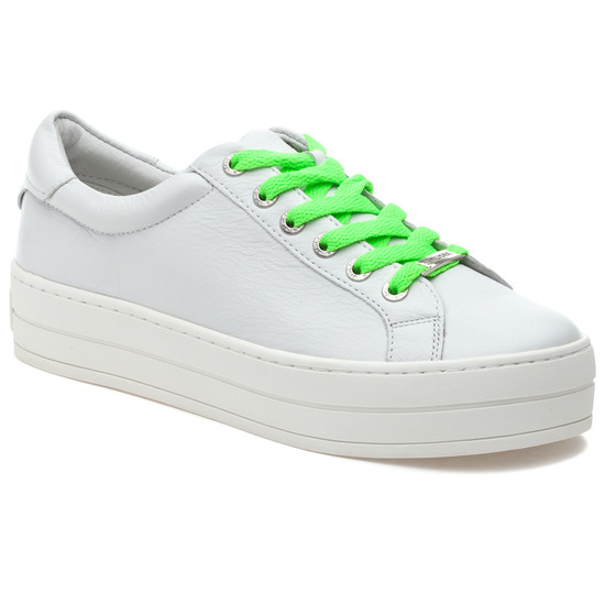 JSlides HIPPIE NEON White Leather/Green
