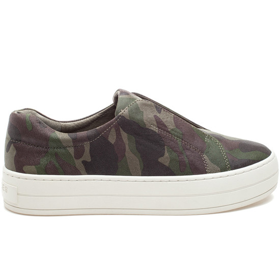 HEIDI Green Camo Leather