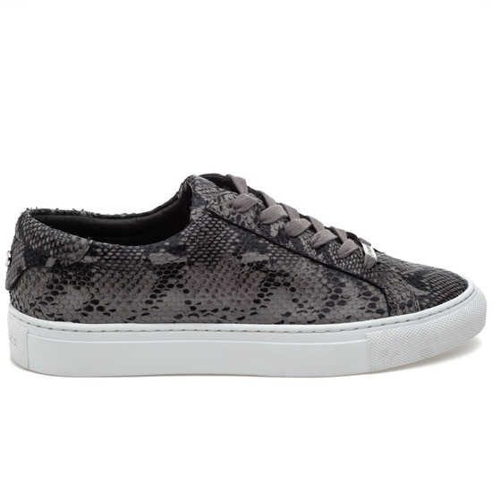 JSlides LACEE Black/Grey Embossed Leather