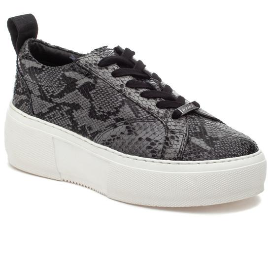 COURTO Black/Grey Leather