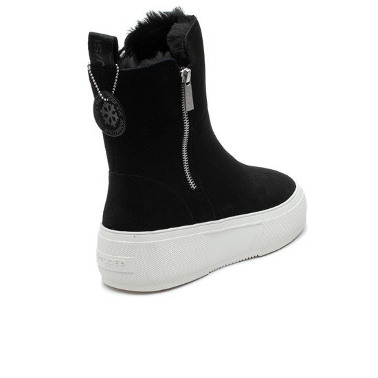 CAROLE Black Waterproof Suede