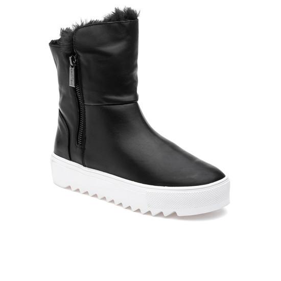 JSlides SELENE Black Waterproof Leather