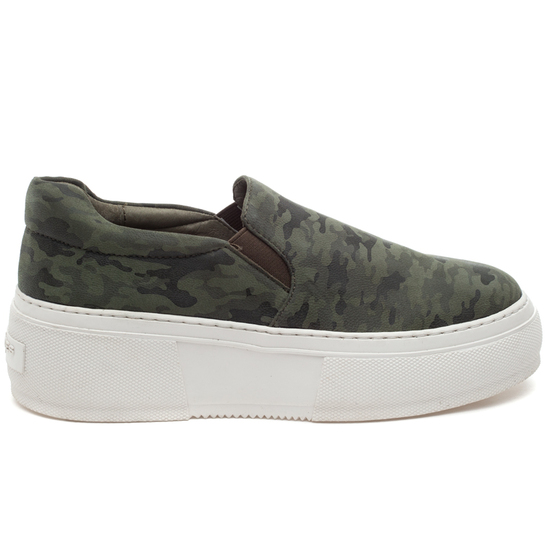 CLEO Green Camo Leather