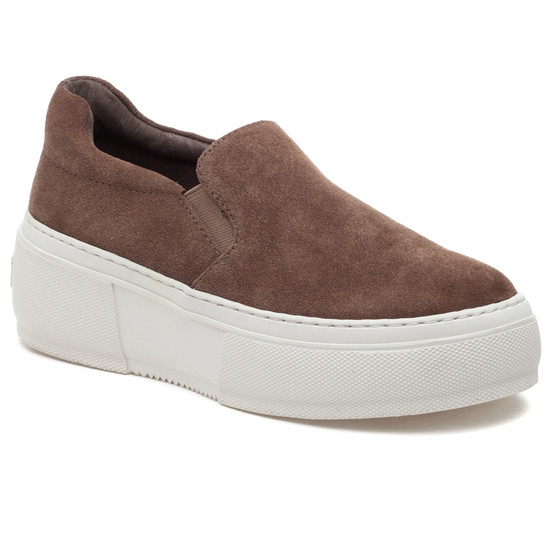 CLEO Taupe Suede
