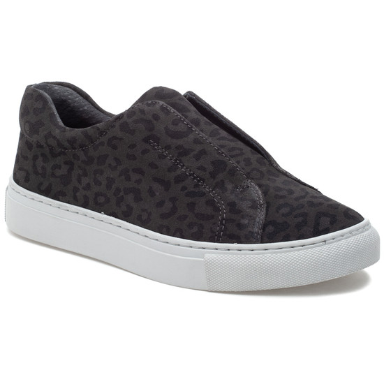 LUV Grey Leopard Suede