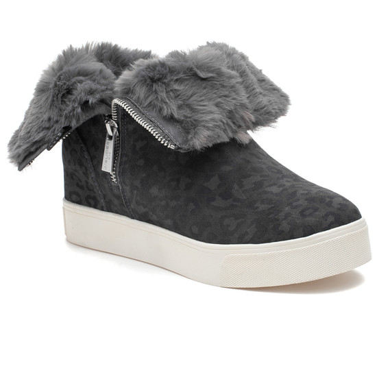 WOW Grey Leopard Suede