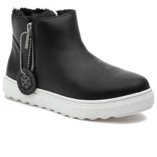 POPPY Black Waterproof Leather