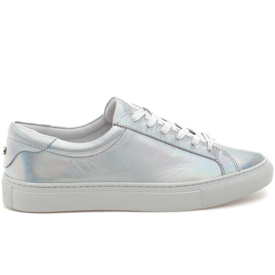 LACEE Silver Metallic Leather