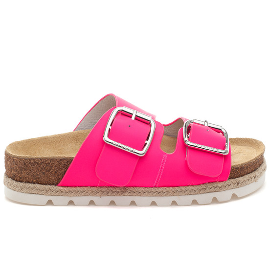 LEIGHTON Neon Pink Leather