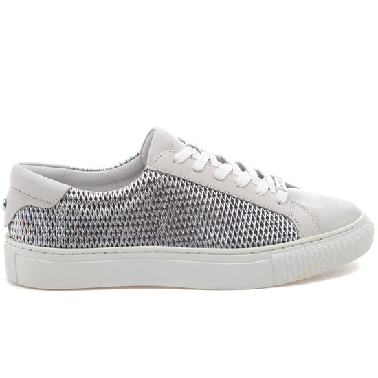 LACEE LASER Silver Metallic Leather