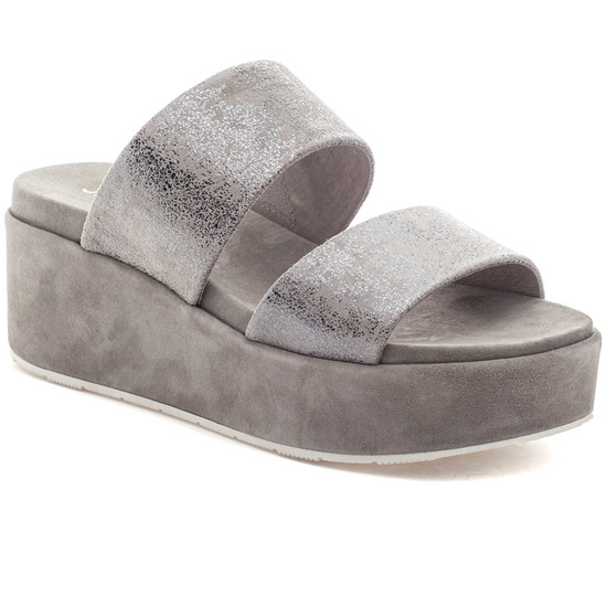 QUINCY Pewter Brushed Suede