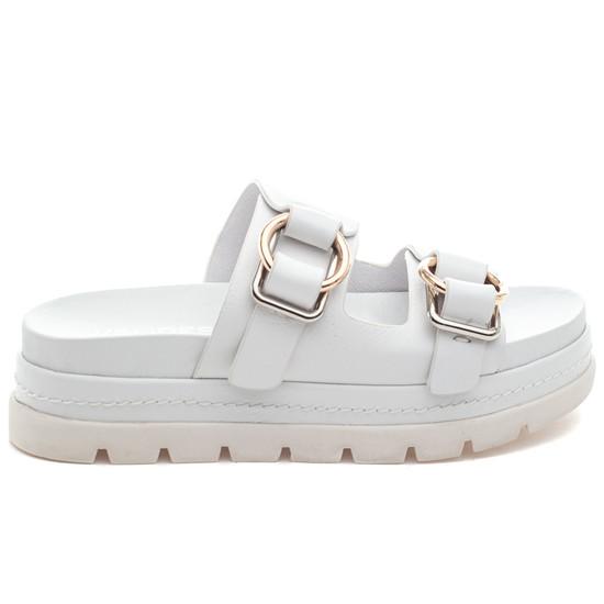 BAHA White Leather