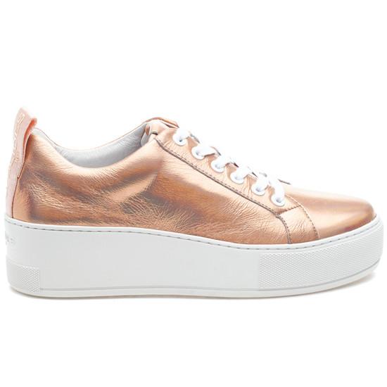 MARGOT Rose Gold Metallic Leather