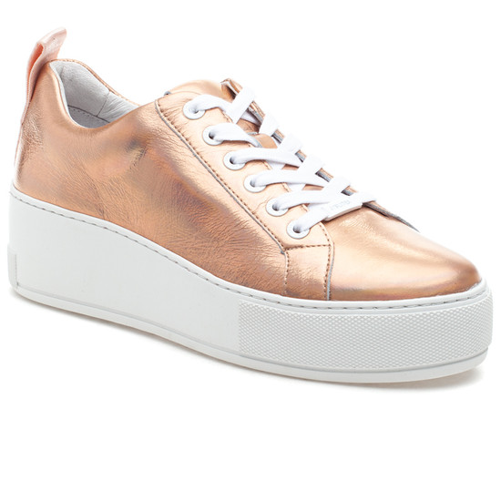 MARGOT Rose Gold Metallic Leather