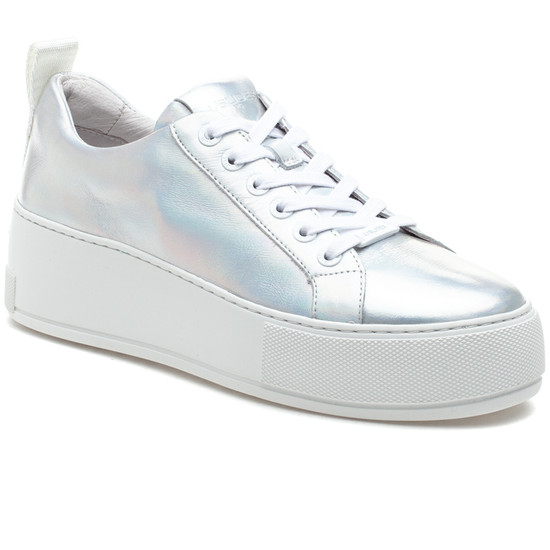MARGOT Silver Metallic Leather