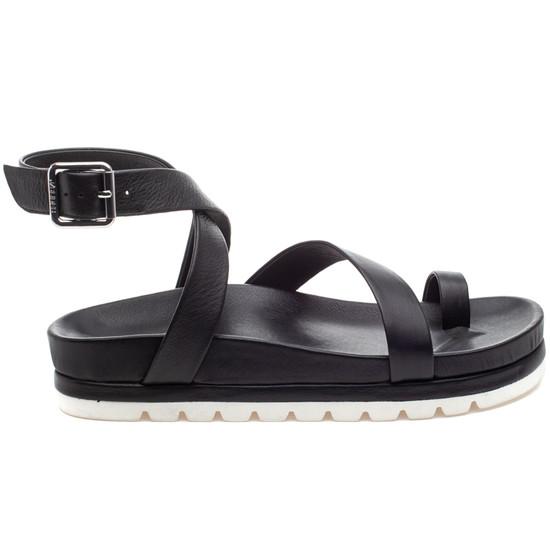 LANZY Black Leather