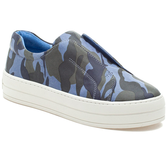 HEIDI Blue Camo Leather