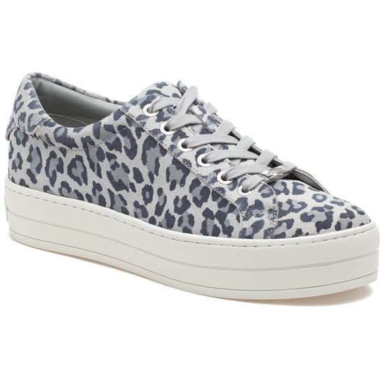 HILTON Light Grey Leopard Suede