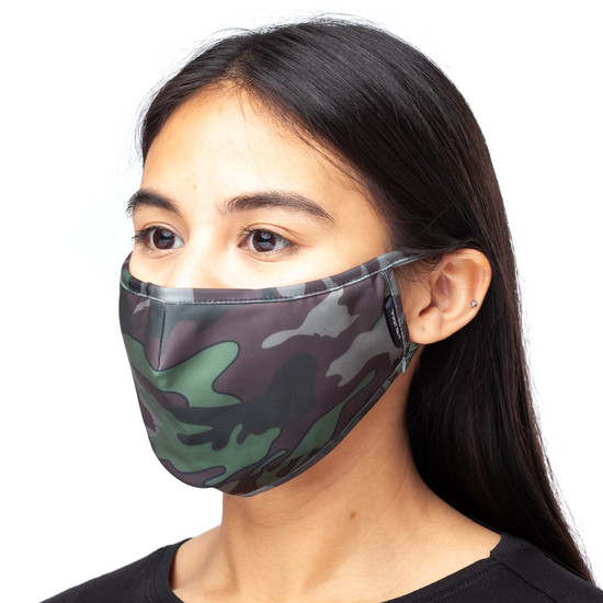 CARING MASK Green Camo