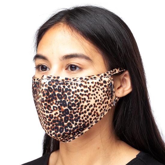 CARING MASK Light Tan Leopard