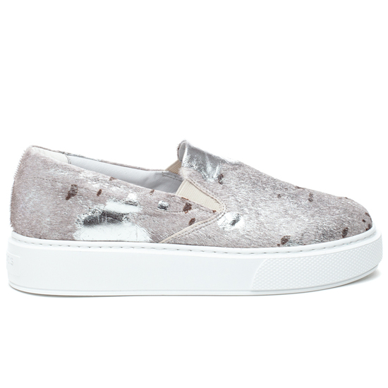 DELIA PONY Silver White Metallic