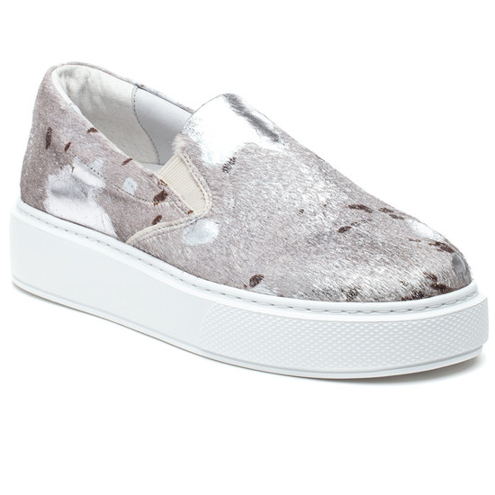 DELIA PONY Silver White Metallic