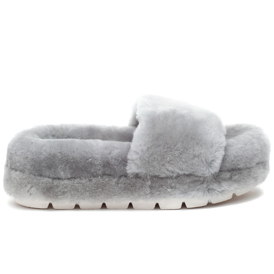 BRYCE Grey Shearling