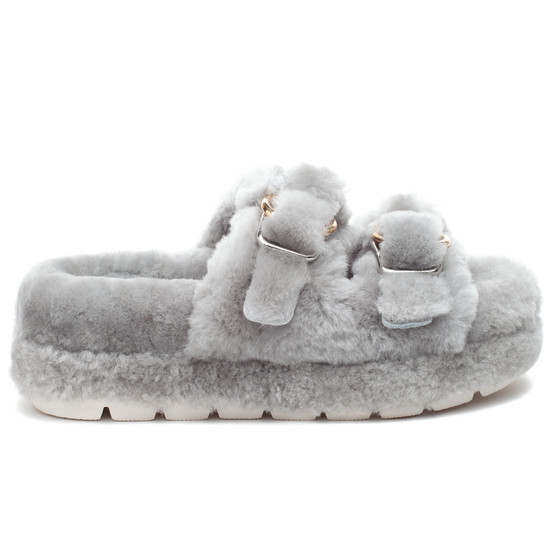 BROOKE Grey Shearling
