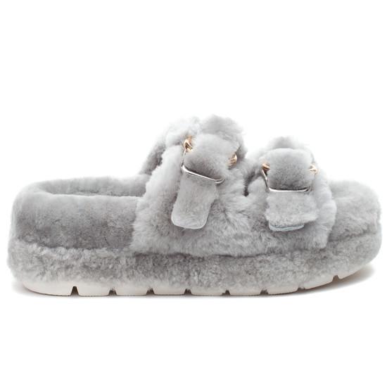 BROOKE Grey Shearling