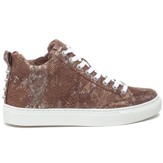 LUDLOW Chestnut Metallic Multi Embossed Leather