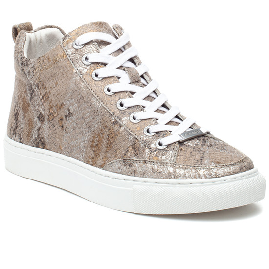 LUDLOW Natural Metallic Multi Embossed Leather