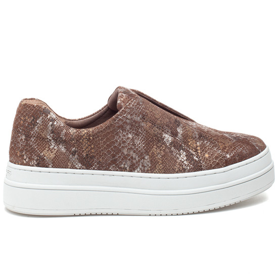 NOEL Chestnut Metallic Multi Embossed Leather