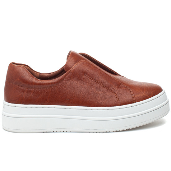NOEL Cognac Distressed Leather
