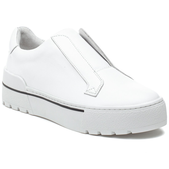 NYRIE White Leather