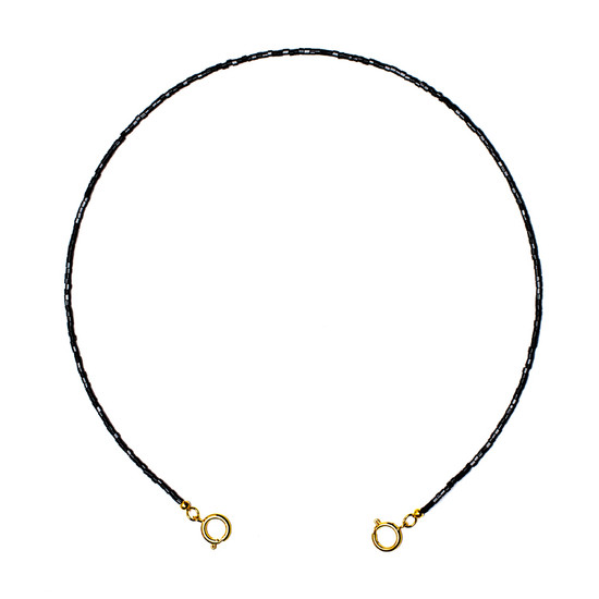 CARING MASK CHAIN Black Bead